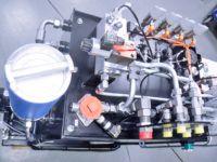 Nowe unikatowe stanowisko szkoleniowe w laboratorium hydrauliki siłowej - W oparciu o koncepcję stworzoną przez wykładowców EMT-Systems, we współpracy z firmą AgroHytos z Zatora, zbudowano zasilacz o nietypowym zastosowaniu.