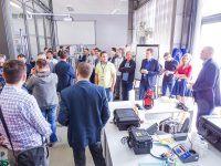 Podczas bezpłatnych warsztatów technicznych EMT TOUR ze Zrobotyzowanych linii i stanowisk, odbyło się zwiedzanie laboratoriów szkoleniowych EMT-Systems. Laboratorium hydrauliki siłowej.