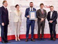 Firma Dobrze Widziana - rozdanie nagród BCC w Pałacu Lubomirskich w Warszawie. Prezes EMT-Systems Grzegorz Wszołek z dyplomem wyróżnienia.