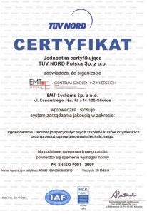 EMT-Systems PN-EN ISO 9001:2009