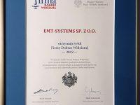 Firma Dobrze Widziana. Tytuł przyznany EMT-Systems przez Business Centre Club