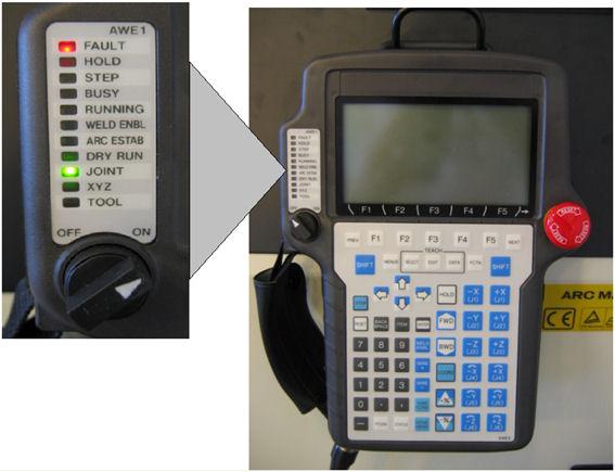 Teach Pendant For Programming A Motoman Sda Dual Arm Robot