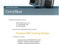 Siemens-CNC-Certyfikat