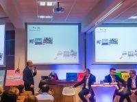 """Konferencja WSB """"Project Management 2.0"""" w Dąbrowie Górniczej, panel dyskusyjny z udziałem Piotra Podgórskiego"""